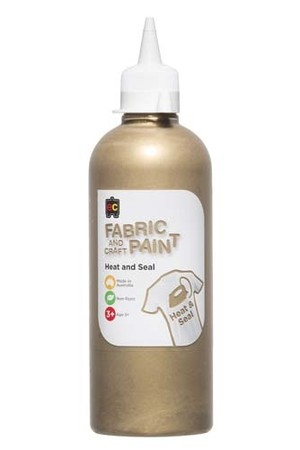 Fabric And Craft Paint 500ml - Gold