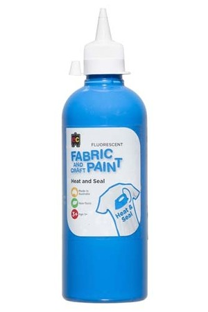 Fluorescent Fabric And Craft Paint 500mL - Blue