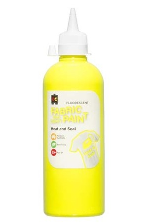 Fluorescent Fabric And Craft Paint 500mL - Yellow