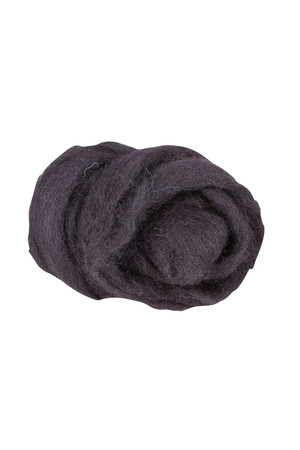 Crafting Combed Wool - Coarse: Black (100g)