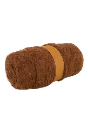 Crafting Combed Wool - Coarse: Brown (100g)