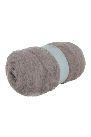Crafting Combed Wool - Coarse: Grey (100g)