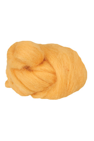 Crafting Combed Wool - Coarse: Yellow (100g)