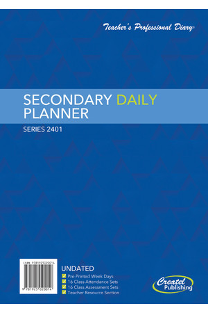 Secondary Daily Undated Planner - Wiro Bound (Clearance)