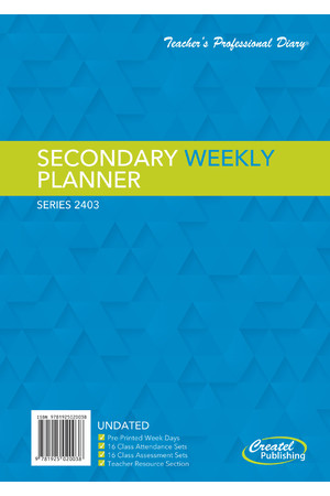 Secondary Weekly Undated Planner - Wiro Bound (Clearance)