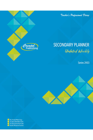 Secondary Weekly Undated Planner - Wiro Bound