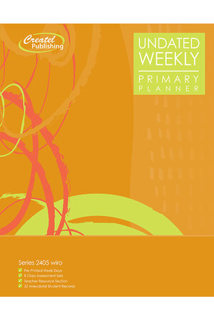 Primary Weekly Undated Planner - Wiro Bound