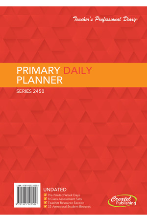 Primary Daily Undated Planner - Wiro Bound (Clearance)