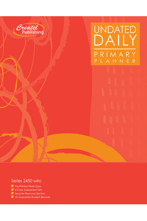 Primary Daily Undated Planner - Wiro Bound