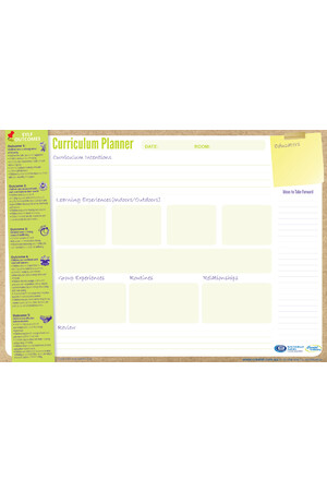 Early Years Curriculum Planner Pad 2018