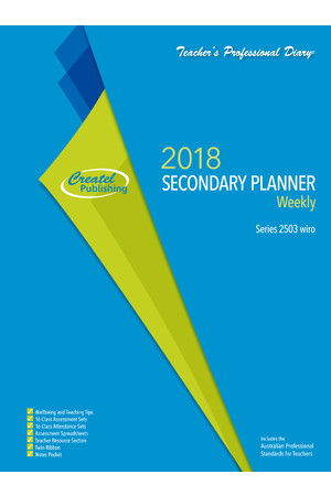 Secondary Weekly Planner 2018 - Wiro Bound