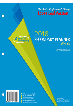 Secondary Weekly Planner 2018 - Loose Leaf