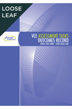 VCE Assessment Tasks & Outcomes Record Book - Loose Leaf