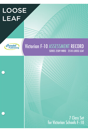 VIC F-10 Assessment Record Book (7 Multi-Class Set) - Loose Leaf