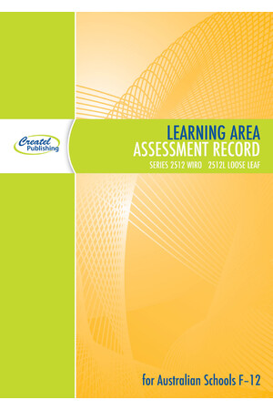 Learning Area Assessment Record Book - Wiro Bound