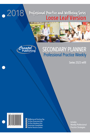 Secondary Professional Practice Weekly Planner 2018 - Loose Leaf