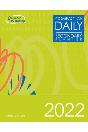 Secondary Compact A5 Daily Planner 2017 - Wiro Bound