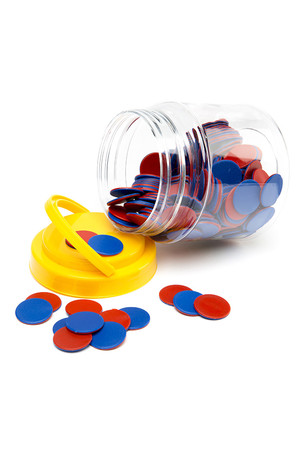 Red and Blue Counters - Jar 200