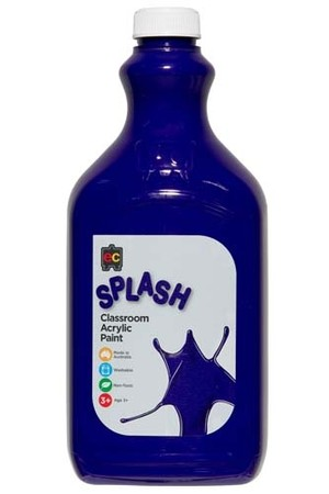 Splash Acrylic Paint 2L - Purple Blast (Purple)
