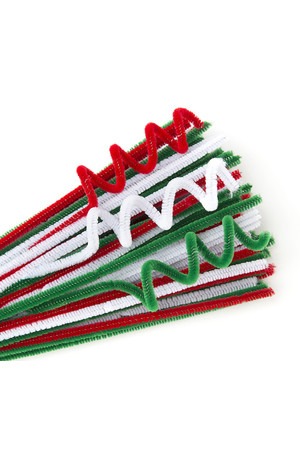 Chenille Stems - Christmas Colours