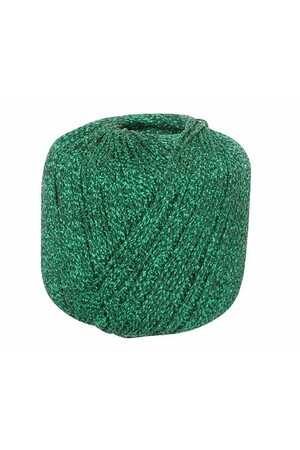 Metallic Yarn - Emerald (20g)