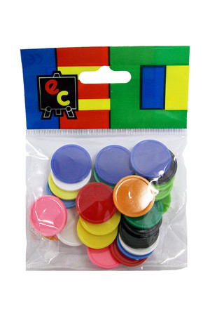 Small Assorted Colour Counters - Pack of 30