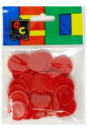 Small Colour Counters - Red