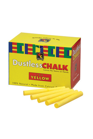 Chalk Dustless Yellow 100 Pieces