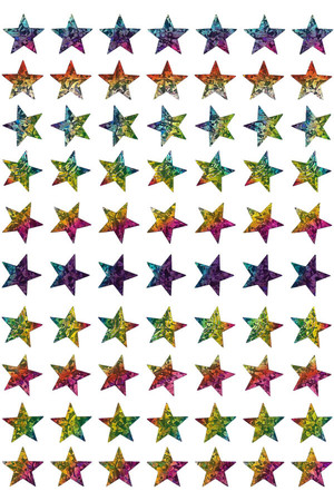 Dynamic Glitz Laser Stars Stickers