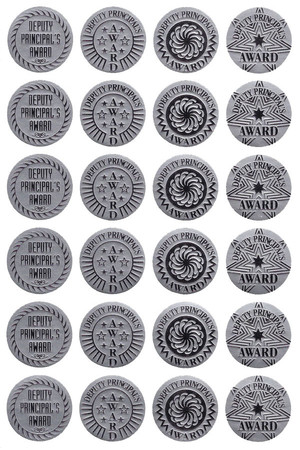 Deputy Principal's Silver Foil on Brushed SIlver Award Stickers - Pack of 72