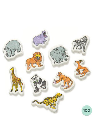 Wild Animals Erasers - Pack of 100