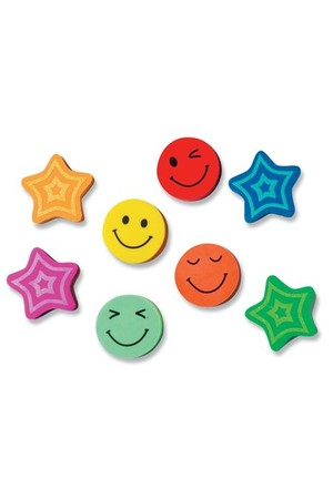 Stars and Smiles Erasers - Pack of 20