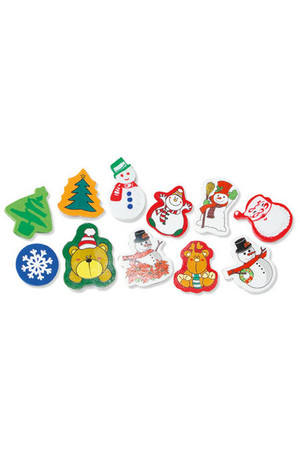 Christmas Fun Erasers - Pack of 20