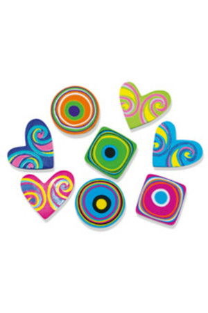Hearts and Swirls Erasers - Pack of 20