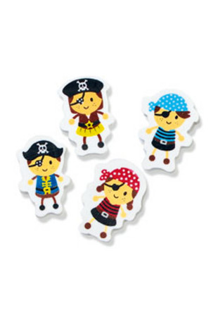 Little Pirates Erasers - Pack of 100