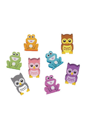 Owls and Frogs Erasers - Pack of 20