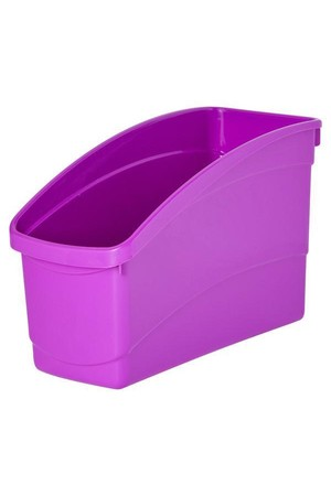 Plastic Book Tub - Playful: Purple
