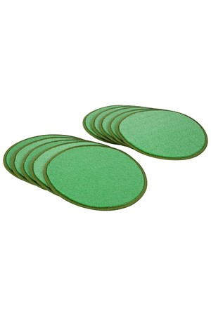Ten Frame Carpet - Discs: Green