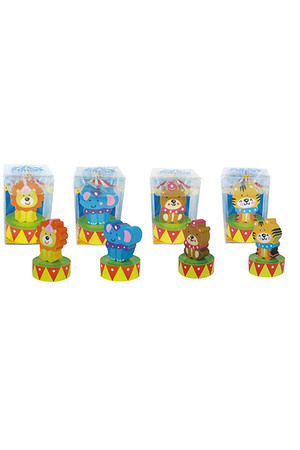 Circus Erasers with Sharpeners - Pack of 4