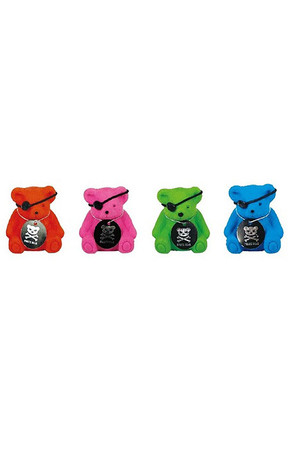 Pirate Bear Erasers with Sharpeners - Pack of 4
