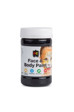 Face and Body Paint 175ml - Black