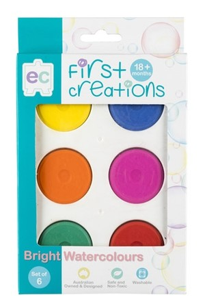 Bright Watercolours - Set of 6
