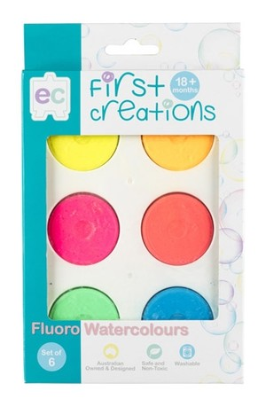 Fluoro Watercolours - Set of 6