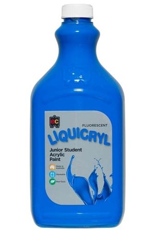 Liquicryl Fluorescent Junior Acrylic Paint 2L - Blue