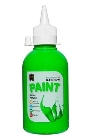 Fluorescent Rainbow Paint Junior Acrylic Paint 250mL - Green