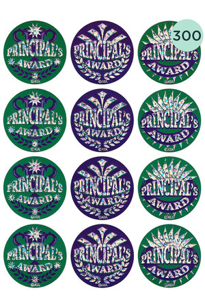 Principal's Award Large Foil Glitz Stickers - Pack of 300