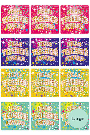 Head Teacher's Award Holographic Laser Stickers - Large 40mm: Pack of 48