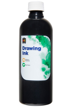 Drawing Ink 500ml Black