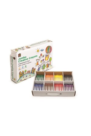 Crayon Jumbo 8 Colours 200 Pieces