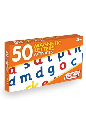 50 Magnetic Letter Activity Cards
